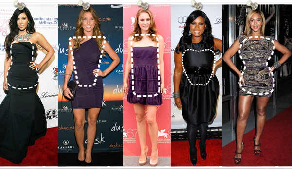 Style draw bodycon body to different on dress types